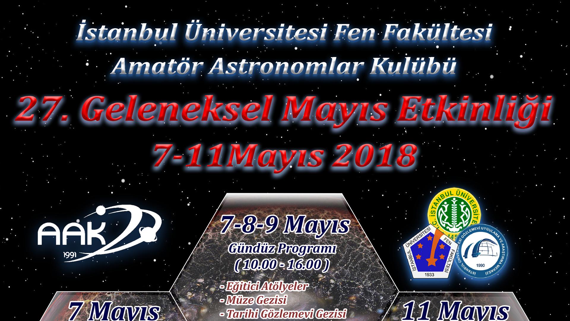 """Türkiye'nin-En-Eski-Astronomi-Şenliği-Olan-""""Mayis-Etkinliği""""nin-27.'si-İstanbul-Üniversitesi'nde-Gerçekleştiriliyor"""