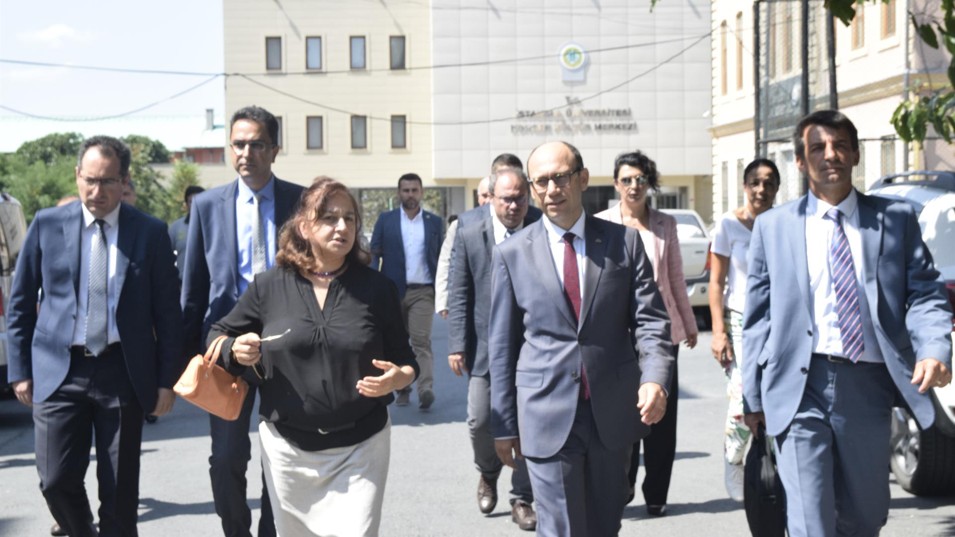 İstanbul-Üniversitesi-Cerrahpaşa-Rektörü-Prof.-Dr.-Nuri-Aydın -Hasan-Ali-Yücel-Eğitim-Fakültesi'nde-İncelemelerde-Bulundu