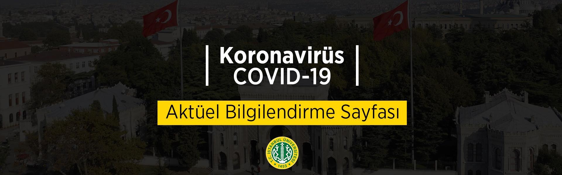koronavirüs COVID-19 bilgilendirme