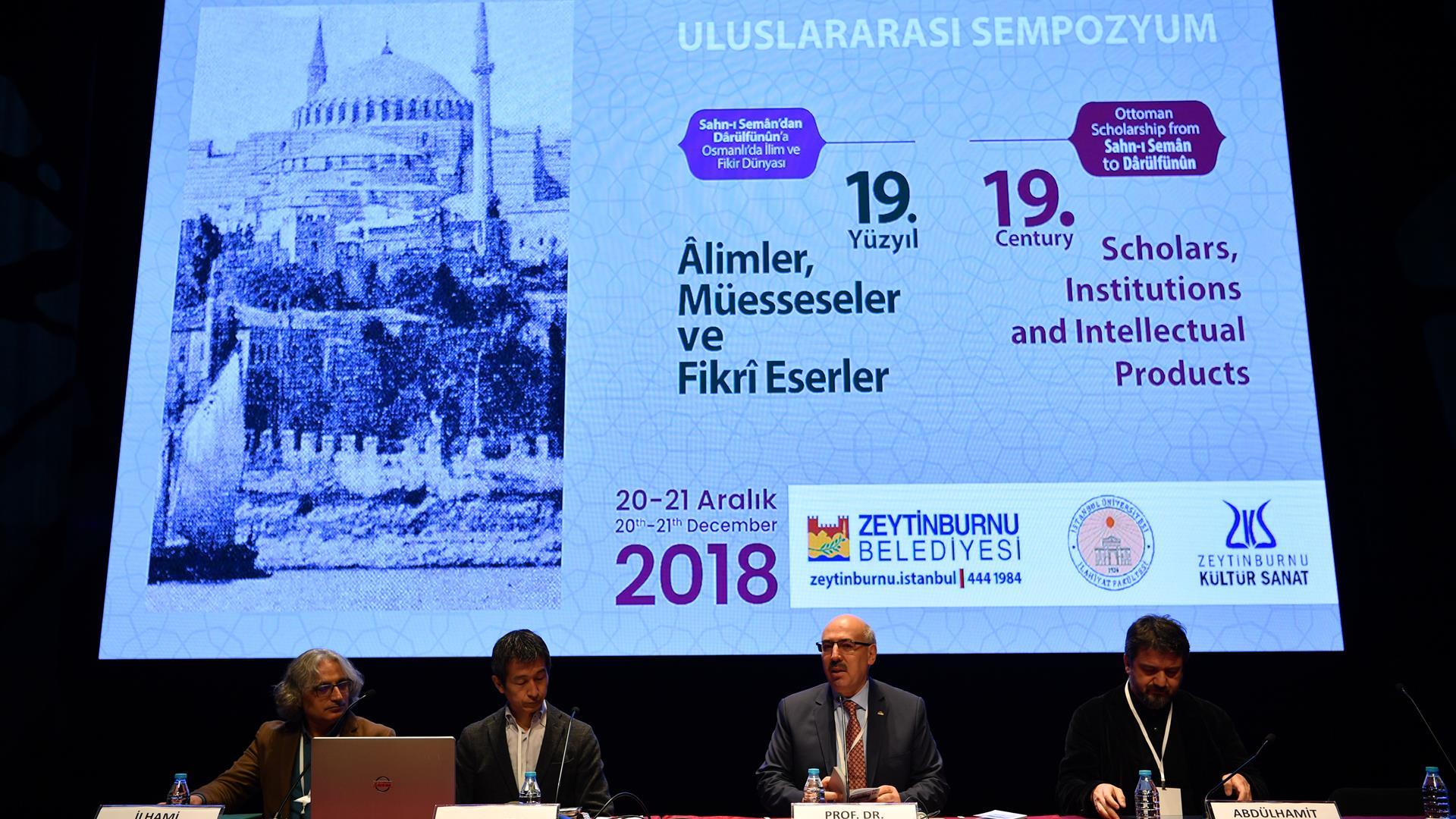"""""""Sahn-ı-Seman'dan-Darülfünün'a-Osmanlı'da-İlim-ve-Fikir-Dünyası:-Alimler -Müesseseler-ve-Fikri-Eserler-Sempozyumu""""-Gerçekleştirildi"""