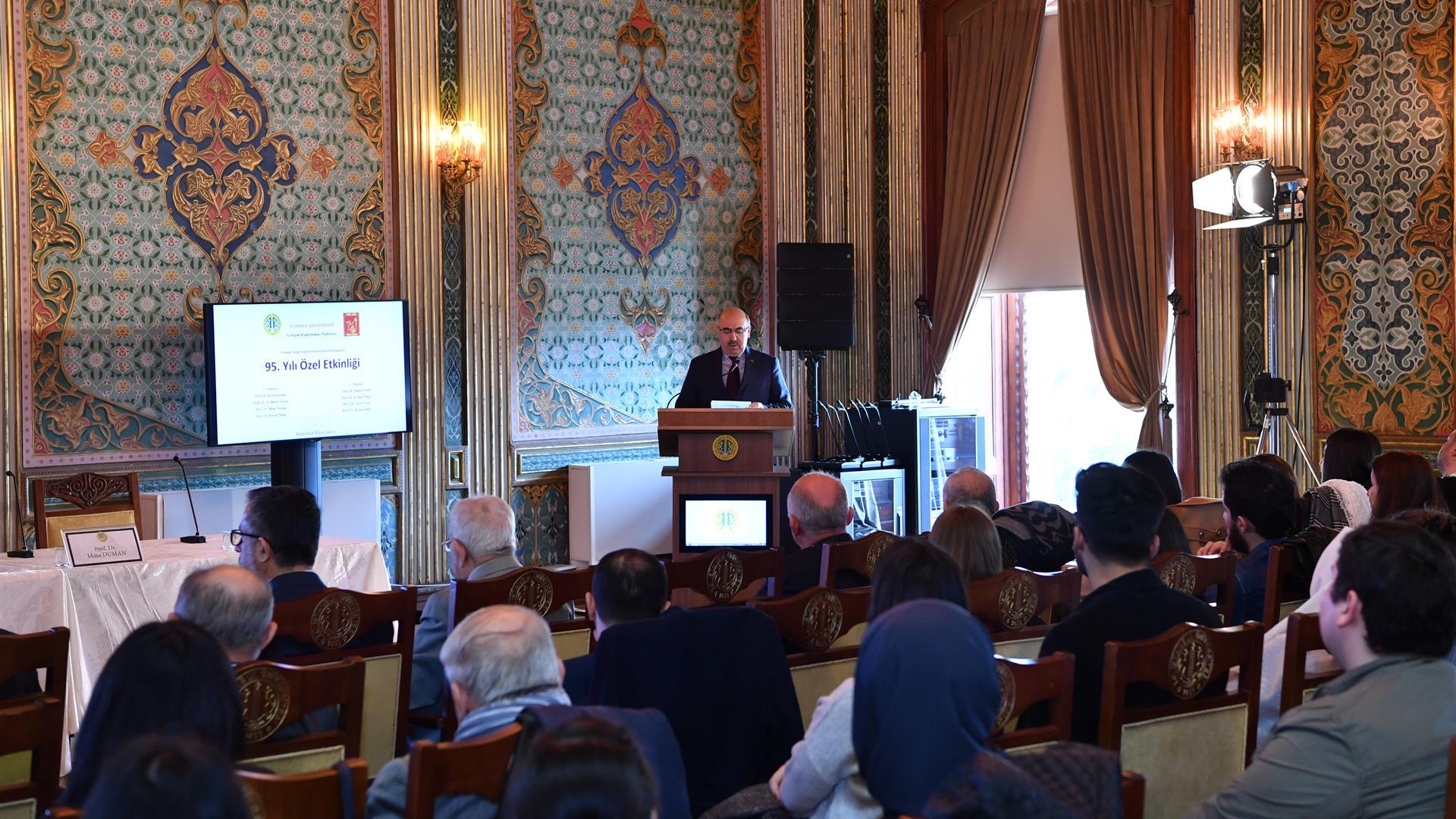 İstanbul-Üniversitesi-Türkiyat-Araştırmaları-Enstitüsü'nün-Kuruluşunun-95.-Yılı-Kutlandı