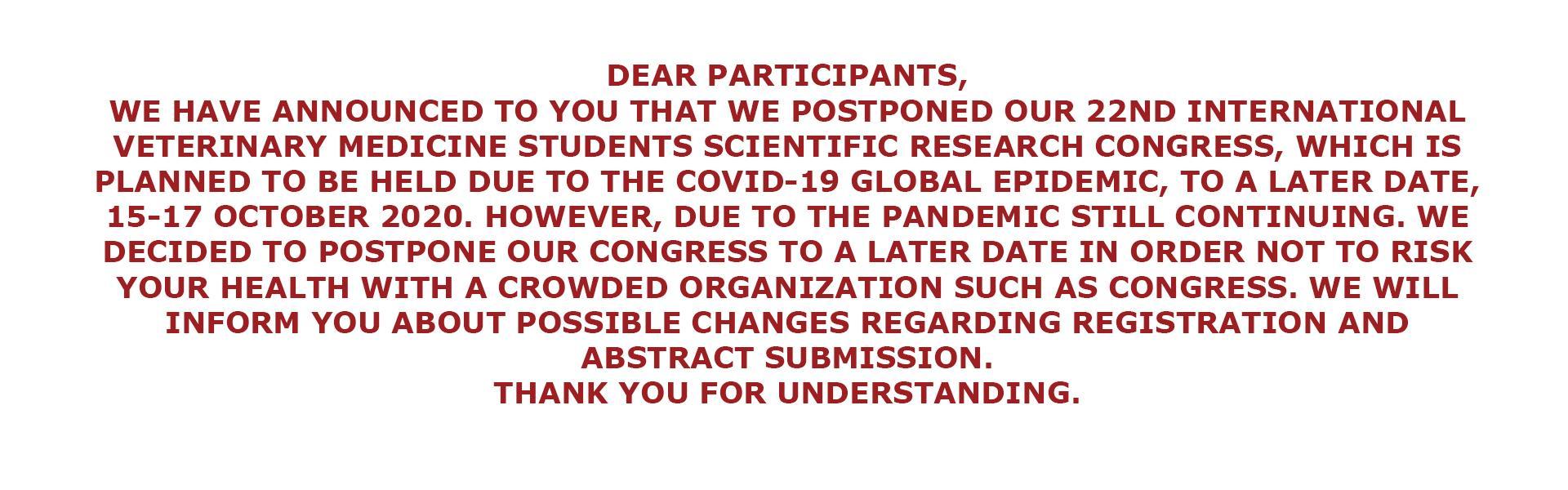 Postponement Congress