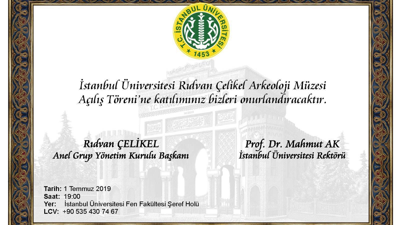 """""""Rıdvan-Çelikel-Arkeoloji-Müzesi""""-İstanbul-Üniversitesi'nde-Açılacak"""