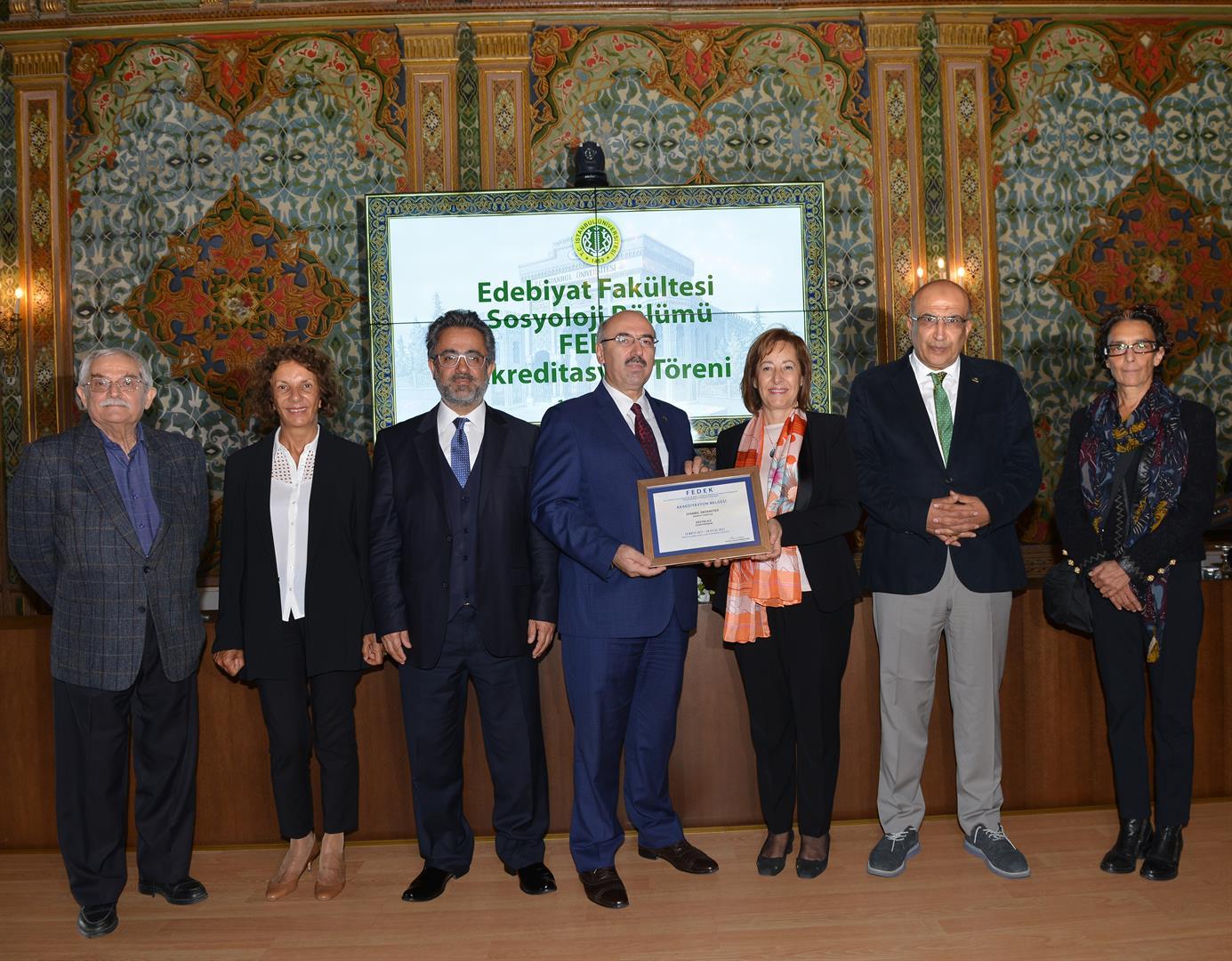 İÜ-Edebiyat-Fakültesi-Sosyoloji-Bölümü-FEDEK-Akreditasyon-Töreni-Gerçekleştirildi