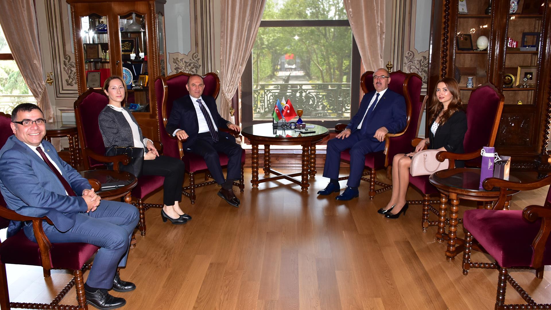 Azerbaijan-Consul-General-of-Istanbul-Mesim-Hacıyev-visits-IU-Rector-Prof-Dr-Mahmut-Ak