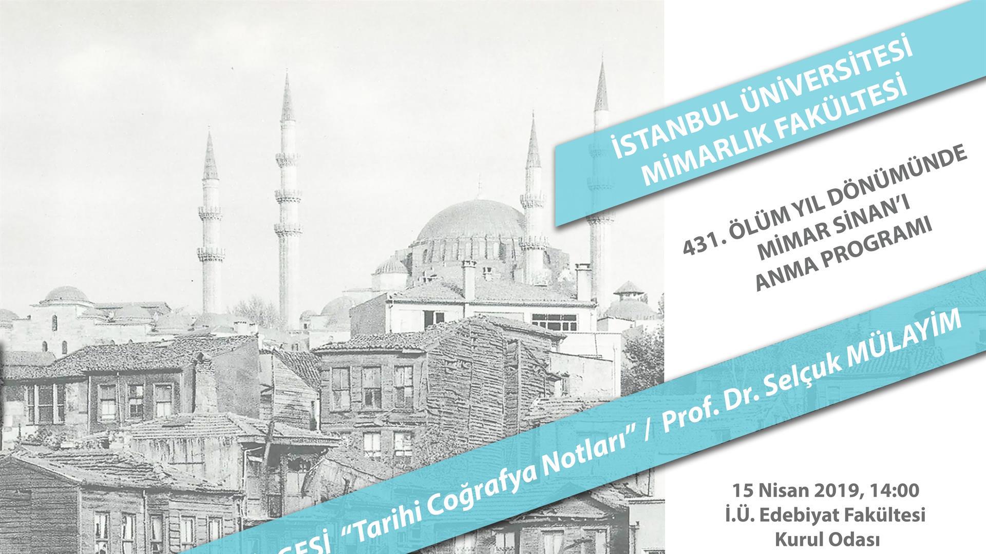 431.-Ölüm-Yıl-Dönümünde-Mimar-Sinan'ı-Anma-Programı