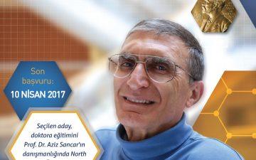 Prof. Dr. Aziz Sancar Biyokimya ve Biyofizik Doktora Bursu