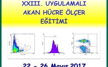 XXIII. Uygulamalı Akan Hücre Ölçer Eğitimi, 22-26 Mayıs 2017 tarihleri arasında Enstitümüzde gerçekleştirilecektir