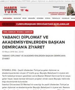 habertürk beyoğlu belediyesi ziyareti