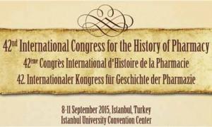 42. Uluslararası Eczacılık Tarihi Kongresi (8-11 Eylül 2015)