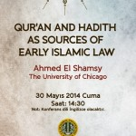 Quran and Hadith as Sources