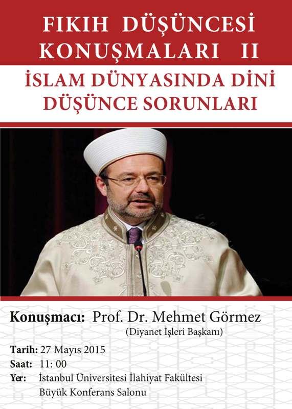 Mehmet Gormez Dini Dusunce Sorunlari