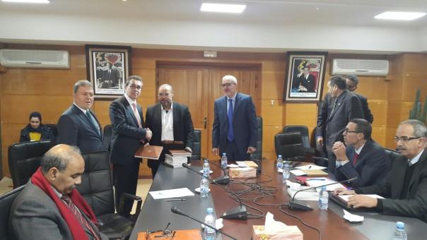 Fez, Sidi Muhammed bin Abdullah Üniversitesi Rektörü, Ömer Subhi, rektör yardımcıları,  edebiyat, insan ve toplum bilimleri ve Şeriat Fakültesi Dekanı