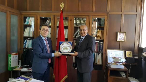 Fas Muhammed el-Hamis Üniversitesi Edebiyat Fakultesi Dekani Cemaleddin el-Hani