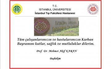 İstanbul Tıp Fakültesi Başhekim Bayram Tebriği