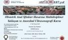 Obstetrik Anal Sfinkter Hastalarına Multidisipliner Yaklaşım ve Anorektal Ultrasonografi Kursu