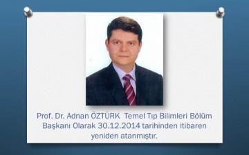 Temel Tıp Bilimleri Bölüm Başkanı Ataması