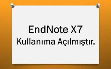 EndNote X7 Kullanıma Açılmıştır