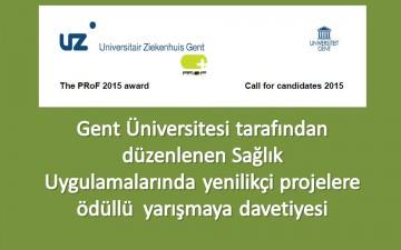 Gent Üniversitesinin Düzenlediği Ödüllü Yarışma