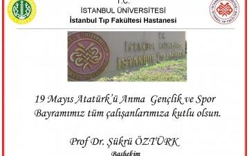19 Mayıs Atatürk'ü Anma, Gençlik ve Spor Bayramı Kutlaması