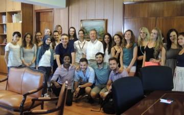 Onbeş  Ülkeden Gelen Uluslararası Değişim Öğrencilerinin, Dekanlığı Ziyareti