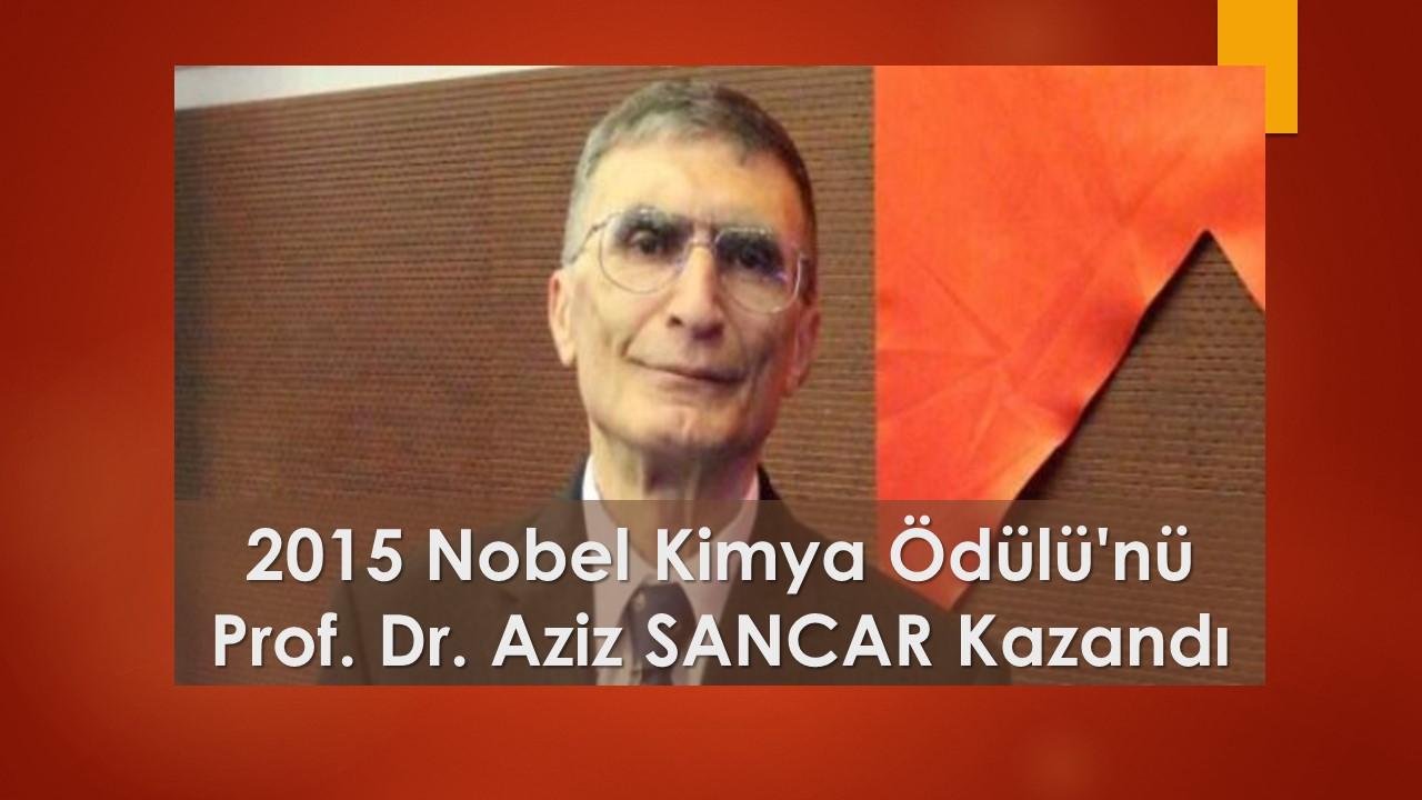 2015 Nobel Kimya Ödülü'nü Prof