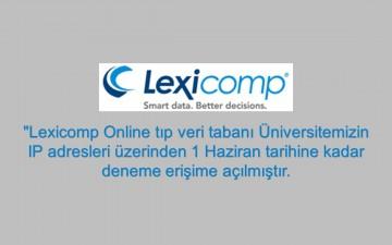Lexicomp Online Deneme Erişimi Açılmıştır