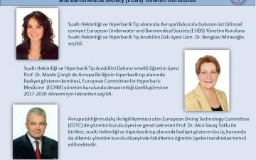 Sualtı Hekimliği ve Hiperbarik Anabilim Dalımız, European Underwater and Baromedical Society (EUBS) Yönetim Kurulunda