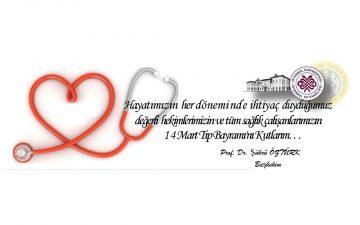 14 Mart Tıp Bayramı Kutlaması Başhekimlik