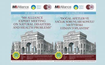 """M8 Alliance Kapsamında Uluslararası Düzeyde Yapılacak Olan """"Doğal Afetler ve Toplum Sağlığı Konulu Uzman Toplantısı Daveti"""""""