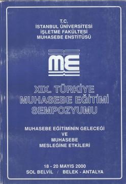 19.Muhasebe Eğitimi sempozyumu, 2000