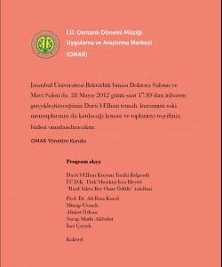 28 mayıs 2012 Program Akışı