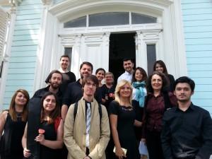 Kâr-ı Natık konseri sonrasınde ODKM öğrencileri ve öğretim üyeleri..