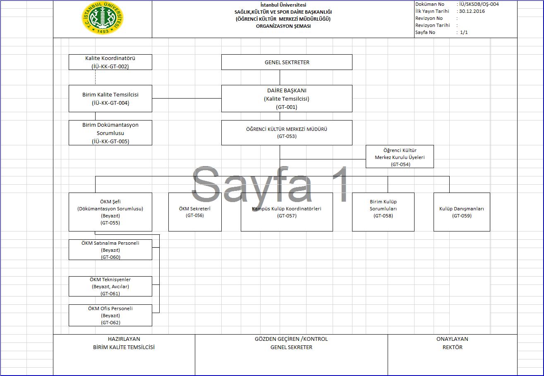 ÖKM Organizasyon Şeması