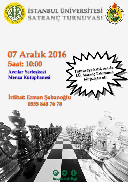 2. Uluslararası İstanbul Açık Satranç Turnuvası Başvuruları Başladı