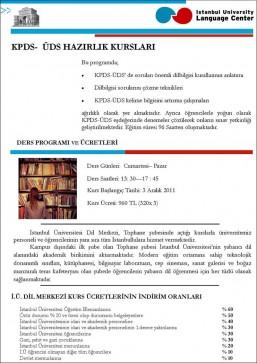 I ü dil merkezi kpds – üds hazırlık kursları