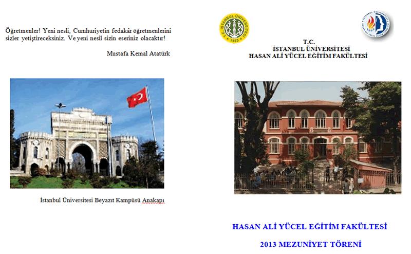 I U Hasan Ali Yucel Egitim Fakultesi Mezuniyet Toreni